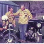 Harriet and Victor Gardener motorcycles
